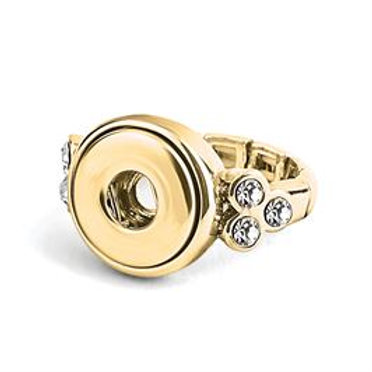 GINGER SNAPS PETITES GOLD 6-STONE STRETCH RING