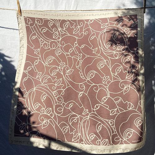 Antique Rose Silk Foulard