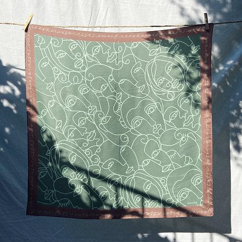Mint Silk Foulard