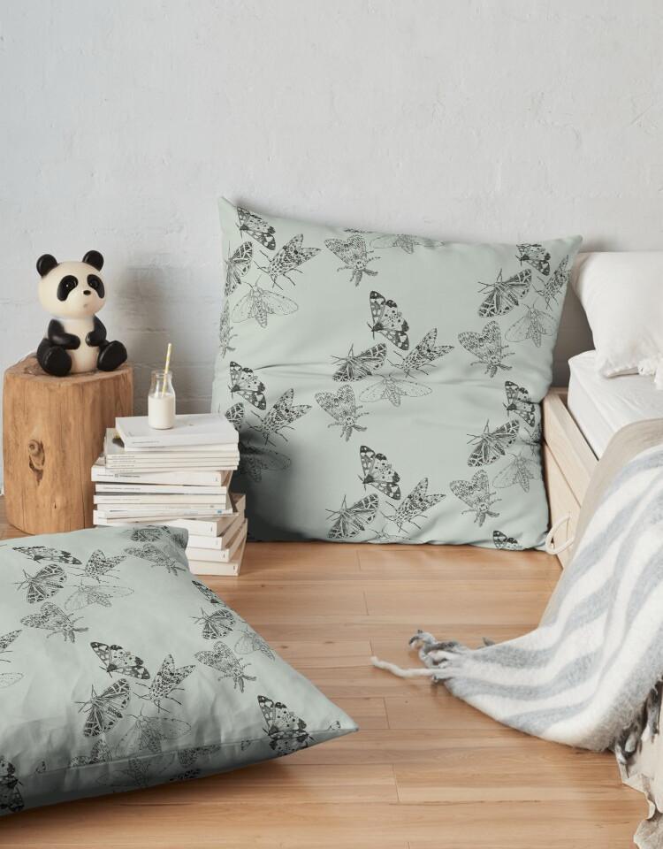 moth floor pillow