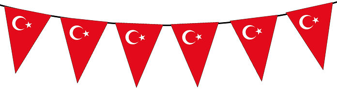 Small Triangle Bunting Flag of Turkey