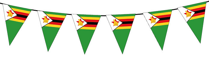 Small Triangle Bunting Flag of Zimbabwe