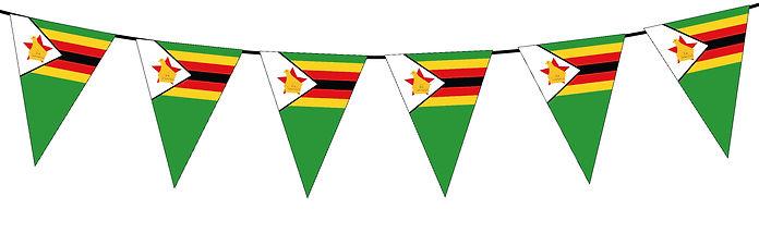 Small Triangle Bunting Flag of Zimbabwe