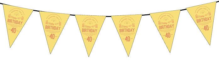 Wishing You a Happy 40th Yellow