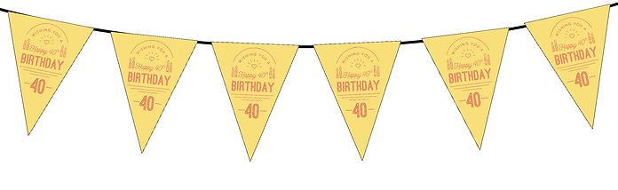 Wishing You a Happy 40th Yellow
