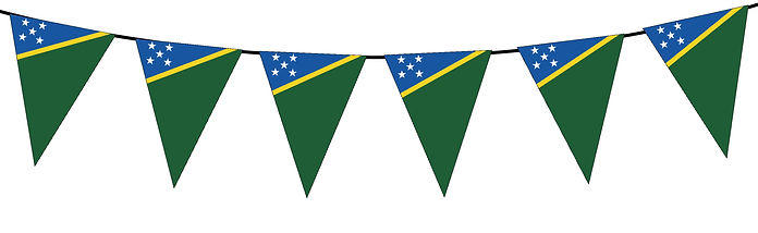 Small Triangle Bunting Flag of Solomon Islands