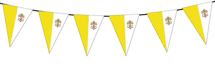 Small Triangle Bunting Flag of The Holy See