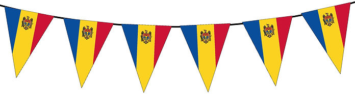 Small Triangle Bunting Flag of Moldova