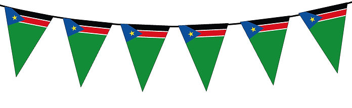 Small Triangle Bunting Flag of South Sudan