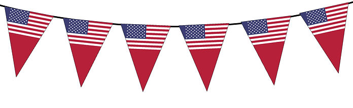 Small Triangle Bunting Flag of USA