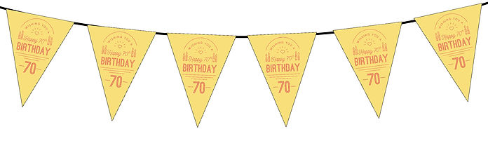 Wishing You a Happy 70th Yellow
