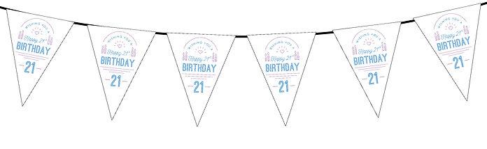 Wishing You a Happy Birthday 21st White
