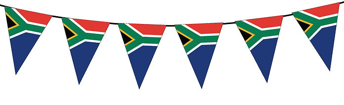 Small Triangle Bunting Flag of South Africa