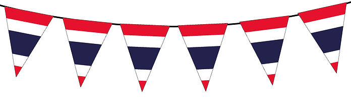 Small Triangle Bunting Flag of Thailand