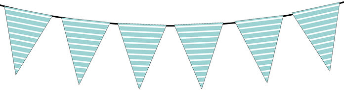 Striped Pattern-turquoise