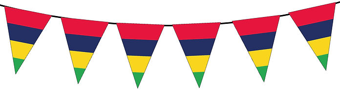 Small Triangle Bunting Flag of Mauritius