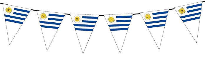 Small Triangle Bunting Flag of Uruguay