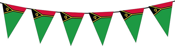 Small Triangle Bunting Flag of Vanuatu