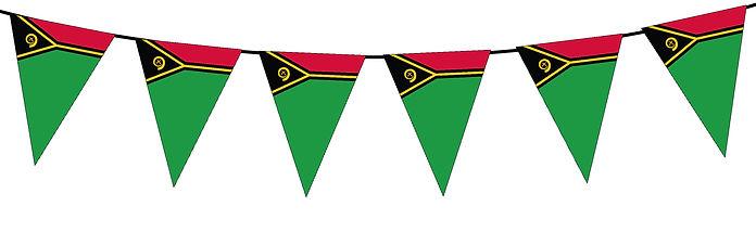 Small Triangle Bunting Flag of Vanuatu