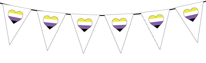 Pride Heart-Non-Binary