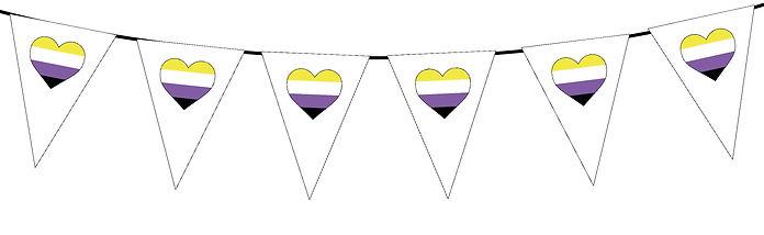 Pride Heart-Non-Binary