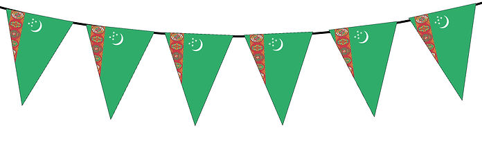 Small Triangle Bunting Flag of Turkmenistan
