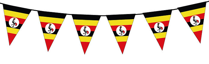 Small Triangle Bunting Flag of Uganda