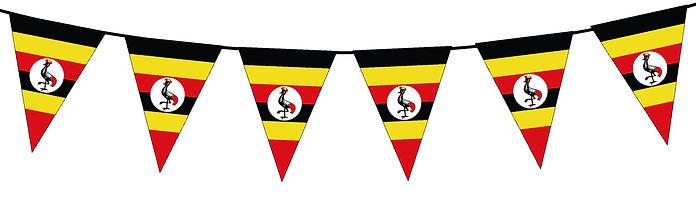 Small Triangle Bunting Flag of Uganda