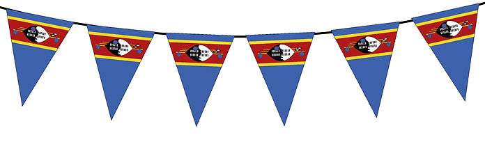 Small Triangle Bunting Flag of Swaziland