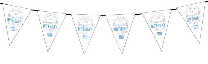 Wishing You a Happy Birthday 100th White