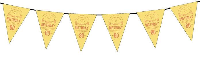 Wishing You a Happy 80th Yellow