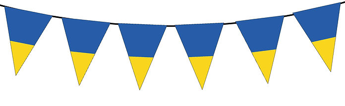 Small Triangle Bunting Flag of Ukraine