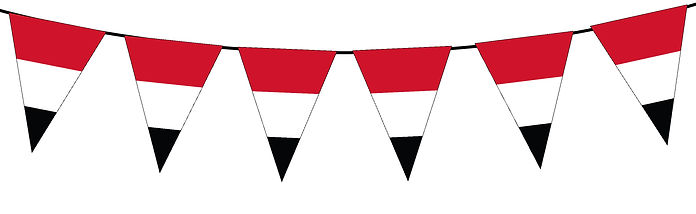Small Triangle Bunting Flag of Yemen