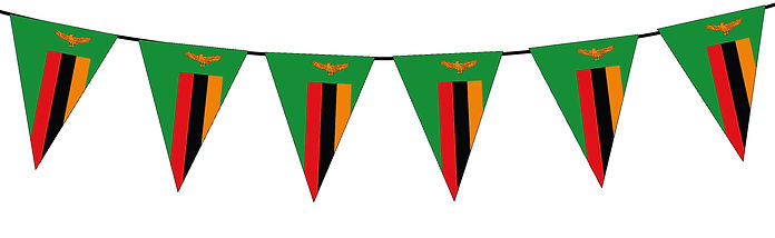 Small Triangle Bunting Flag of Zambia
