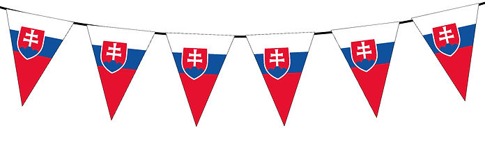 Small Triangle Bunting Flag of Slovakia