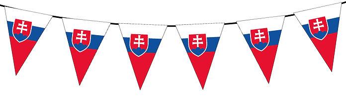 Small Triangle Bunting Flag of Slovakia
