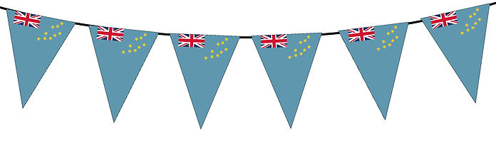 Small Triangle Bunting Flag of Tuvalu
