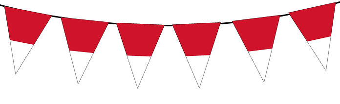 Small Triangle Bunting Flag of Monaco
