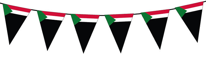 Small Triangle Bunting Flag of Sudan
