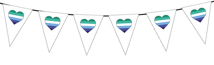 Pride Heart-Gay Man