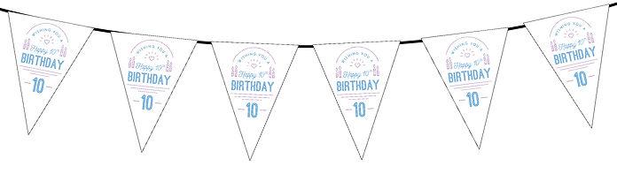 Wishing You a Happy Birthday 10th White