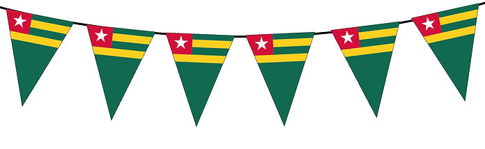 Small Triangle Bunting Flag of Togo