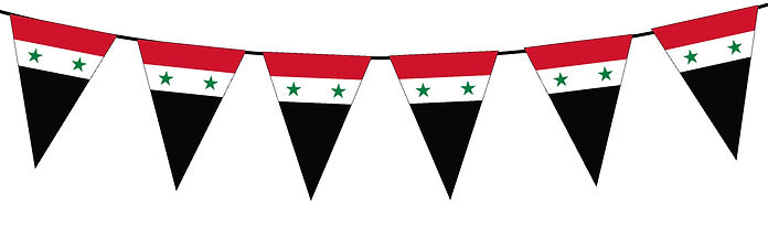 Small Triangle Bunting Flag of Syria