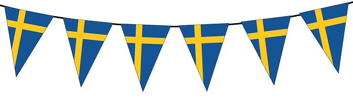 Small Triangle Bunting Flag of Sweden
