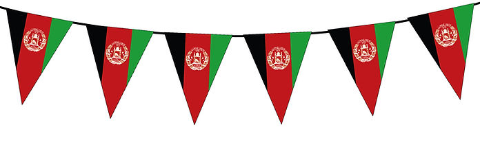 Small Triangle Bunting Flag of Afghanistan