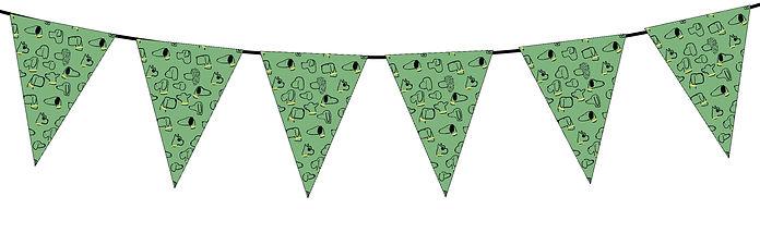 Dog Pattern Green