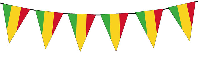 Small Triangle Bunting Flag of Mali