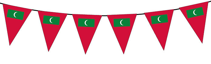 Small Triangle Bunting Flag of Maldives
