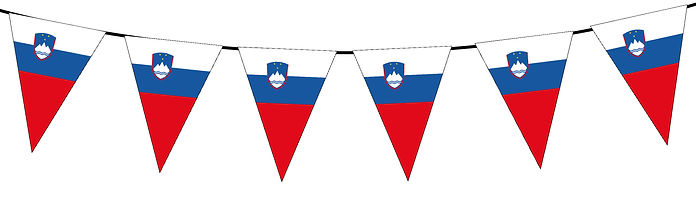 Small Triangle Bunting Flag of Slovenia