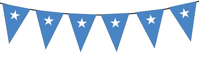 Small Triangle Bunting Flag of Somalia